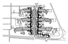 Molnár Attila végleges terve a Kun Béle lakótelep I. üteméről (forrás: Meggyesi [1])