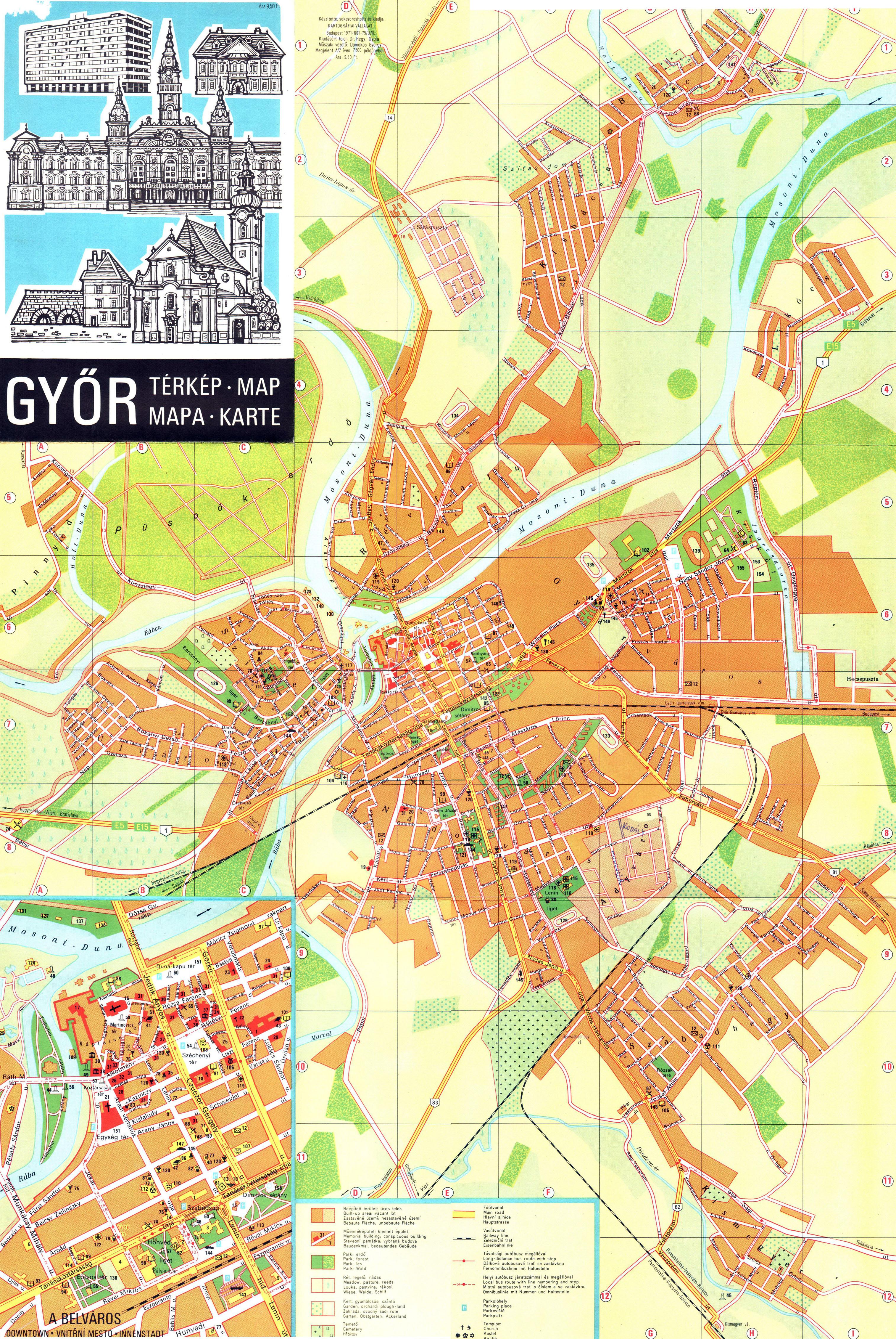térkép győr 1971 (Kartográfia térkép) térkép győr