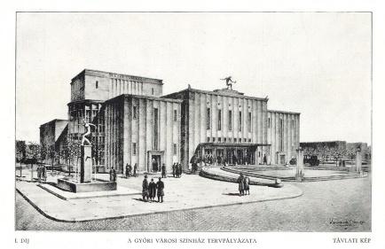 Az 1929-es pályázat I. díjas tervét Körmendy Nándor jegyezte. (forrás: MÉM: 1929/11)