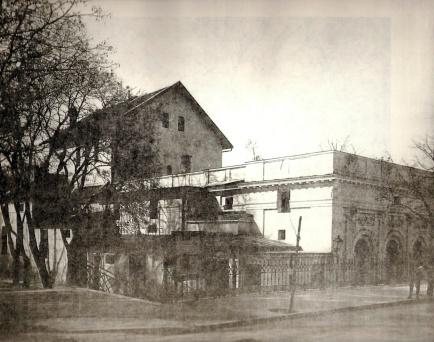 A régi színház a Radó-Szigeten 1927-ig állt. (forrás: Régi Győr)