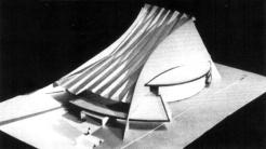 A második változatban a kábeltető íves vonalait átvette az épülettömeg többi része is. (forrás: Winkler-Kurcsis)