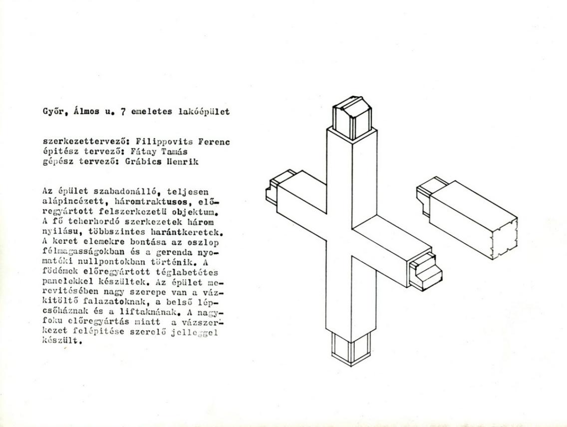 A GYŐRITERV 1963 körüli kiadványának egy lapja, amely a kísérleti szerkezetet mutatja be.