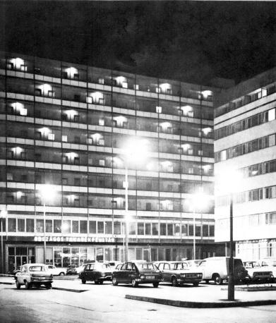 Az elkészült beépítés 1965 körül. (Képeskönyv, 1965)