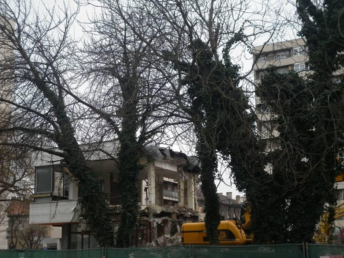 Az épületet 2016 márciusára lebontották. (fotó: Kozma Endre)