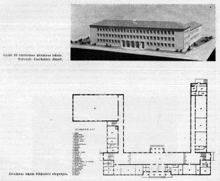 1953-ban a tervező még nagyobb léptékben gondolkodott. (forrás: MÉ, 1953/9-10.)