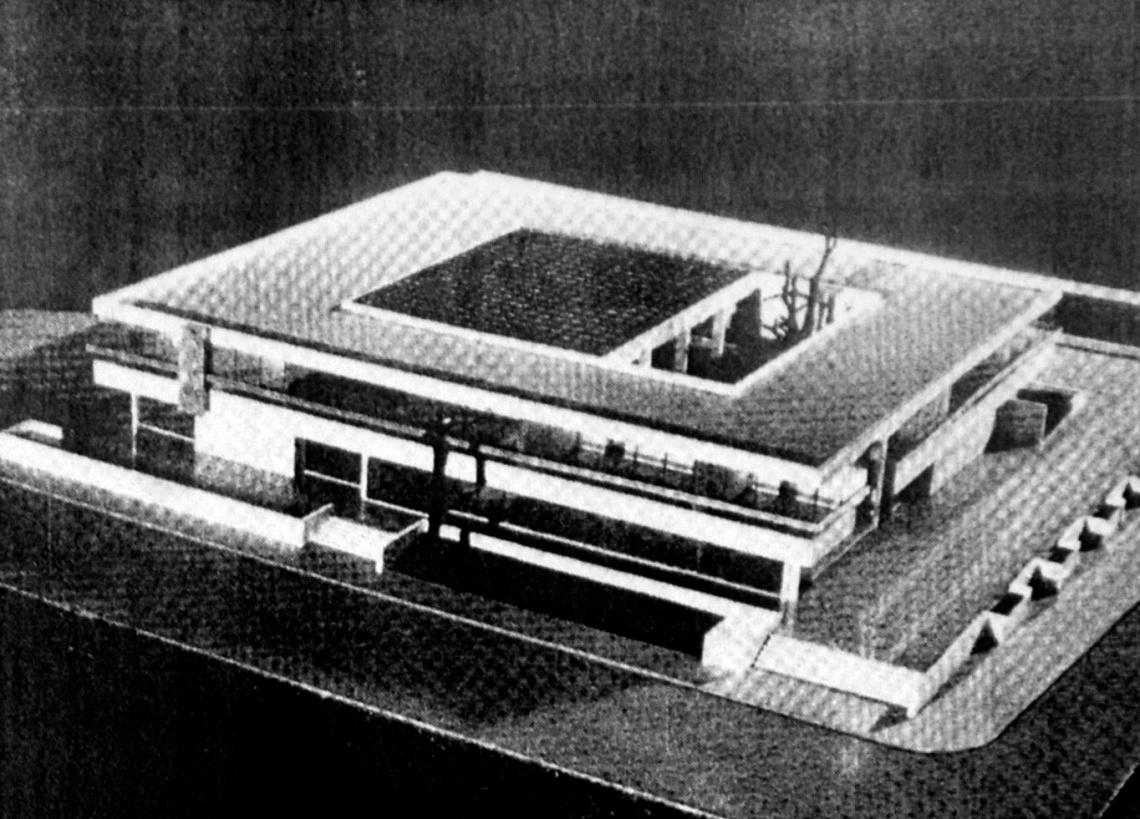 Az épület makettje. (forrás: Magyar Építőipar)