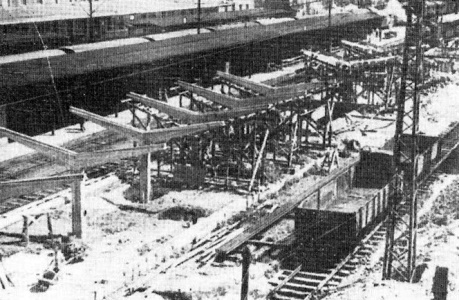 A szigetperon-tetők később készültek el, már a hatvanas években. (fotó. Régigyőr)