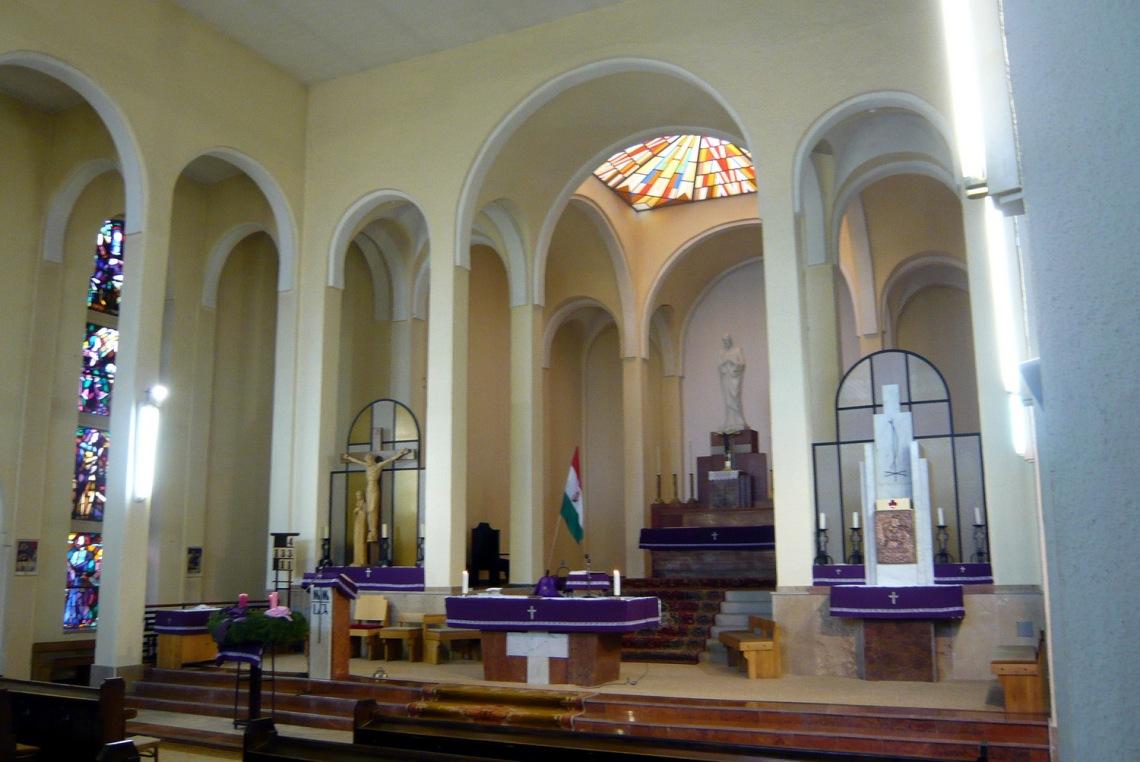 A templom belső tere ma. (fotó: HG)