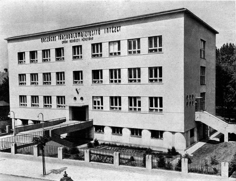 Főhomlokzat. (forrás: MÉM, 1938)