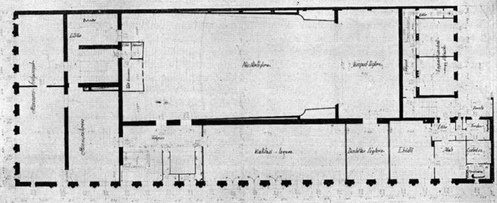 Emeleti alaprajz. (forrás: Tér és Forma, 1936)