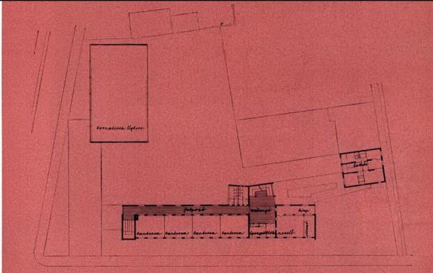 Első emeleti alaprajz. (forrás: MÉ 1965/4)