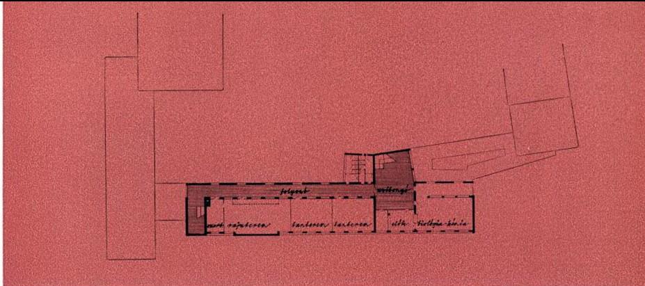 Harmadik emeleti alaprajz. (forrás: MÉ 1965/4)