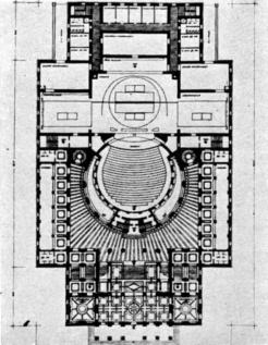 Gádoros Lajos terve, alaprajz, 1952. (forrás: MÉ 79/3)
