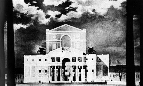Gádoros Lajos homlokzati terve 1952-ből. (forrás: MÉ 79/3)