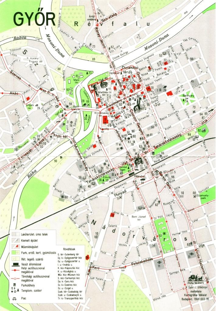 1965 körüli térkép