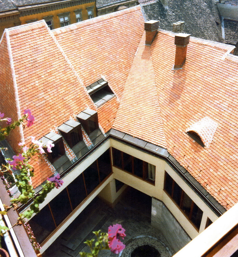 A foghíjbeépítés belső udvara. (forrás: Winkler-Kurcsis)
