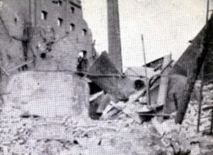 Még egy kép a kiégett malomról. (forrás: Győr élni akar!)
