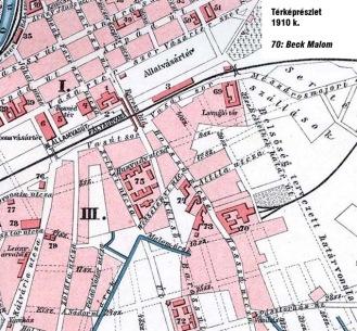 Győr-Nadorváros 1910 körül a Malomligettel.