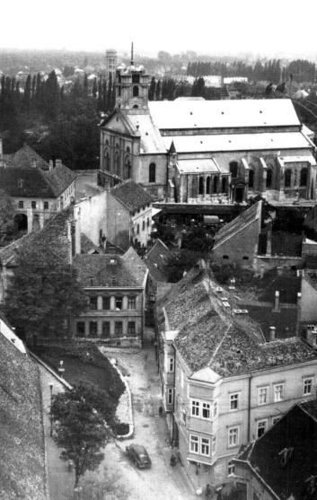 A Káptalandomb a székesegyházzal az ötvenes években. (forrás: Winkler-Kurcsis)