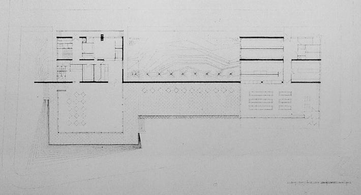 Az épületegyüttes alaprajza. (forrás: Műszaki Tervezés 1970/6.)