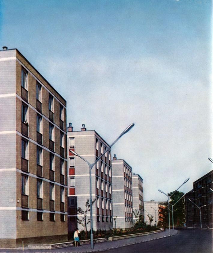 Blokkos épületek Győrben. (fotó: Fátay)