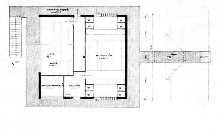 Alaprajz. (forrás: Műszaki Tervezés, 1964/12)