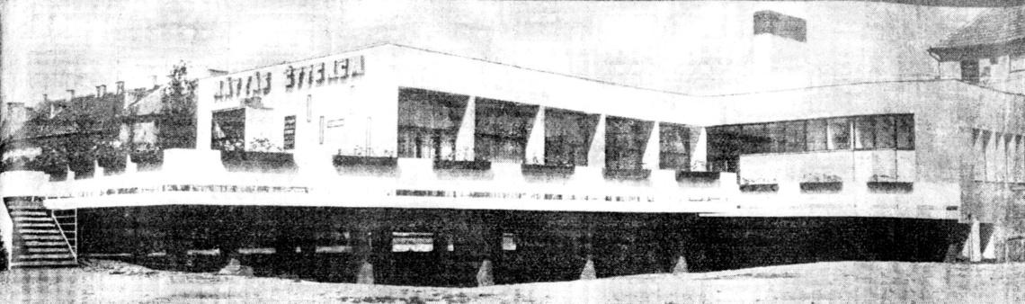 Az épület a hatvanas évek végén. (forrás: Műszaki Tervezés 1968/12.)
